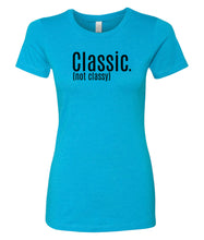 Load image into Gallery viewer, turquoise classic women's crewneck t shirt