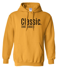Load image into Gallery viewer, yellow classic not classy pullover hoodie