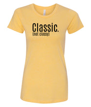 Load image into Gallery viewer, yellow classic women's crewneck t shirt