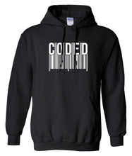 Load image into Gallery viewer, black coded pullover hoodie