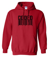 Load image into Gallery viewer, red coded pullover hoodie