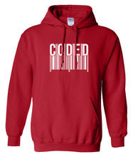 Load image into Gallery viewer, red coded hoodie