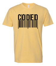 Load image into Gallery viewer, yellow coded crewneck t shirt