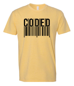 yellow coded crewneck t shirt