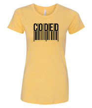 Load image into Gallery viewer, yellow coded women's crewneck t shirt