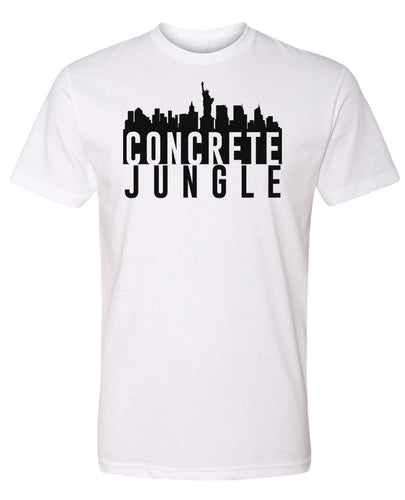 white concrete jungle NYC t-shirt