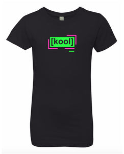 florescent green cool neon streetwear t shirt for girls