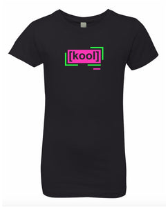 florescent pink cool neon streetwear t shirt for girls
