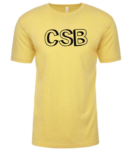 yellow csb mens crewneck t shirt