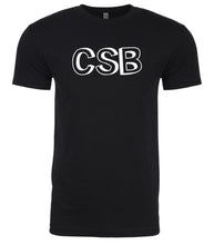 Load image into Gallery viewer, black csb mens crewneck t shirt