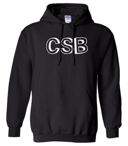 black CSB hooded sweatshirt for women