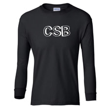 Load image into Gallery viewer, black CSB youth long sleeve t shirt for boys