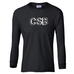black CSB youth long sleeve t shirt for boys