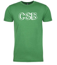 Load image into Gallery viewer, green csb mens crewneck t shirt
