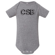 Load image into Gallery viewer, grey CSB onesie for babies