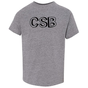 grey CSB crewneck t shirt for toddlers