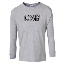 Load image into Gallery viewer, grey CSB youth long sleeve t shirt for boys