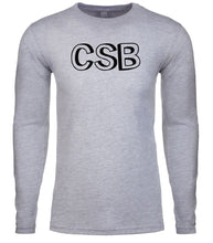 Load image into Gallery viewer, grey csb mens long sleeve shirt