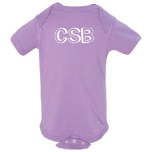 Load image into Gallery viewer, lavender CSB onesie for babies