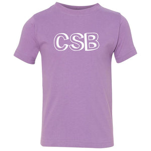lavender CSB crewneck t shirt for toddlers