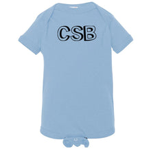 Load image into Gallery viewer, baby blue CSB onesie for babies