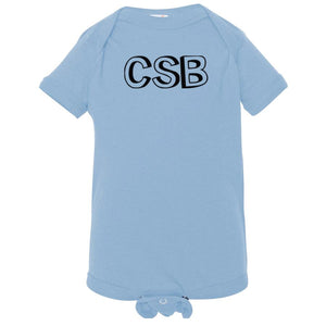 baby blue CSB onesie for babies