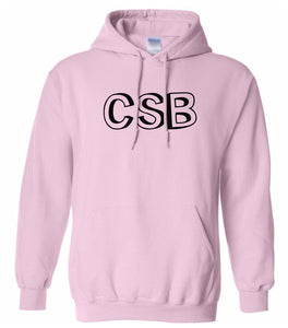 pink CSB hooded sweatshirt for women