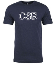 Load image into Gallery viewer, navy csb mens crewneck t shirt