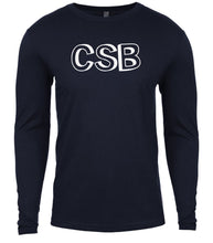 Load image into Gallery viewer, navy csb mens long sleeve shirt