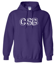 Load image into Gallery viewer, purple CSB hooded sweatshirt for women