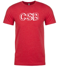 Load image into Gallery viewer, red csb mens crewneck t shirt