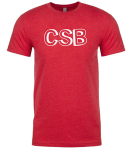 red csb mens crewneck t shirt