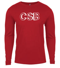 Load image into Gallery viewer, red csb mens long sleeve shirt