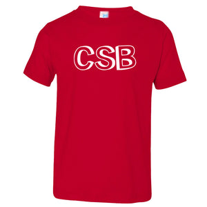 red CSB crewneck t shirt for toddlers