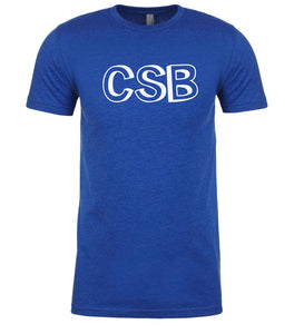 blue csb mens crewneck t shirt