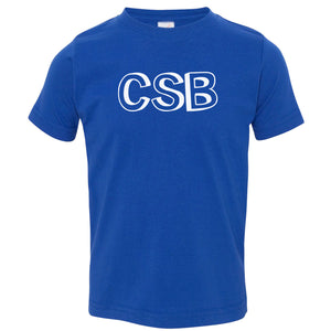 blue CSB crewneck t shirt for toddlers