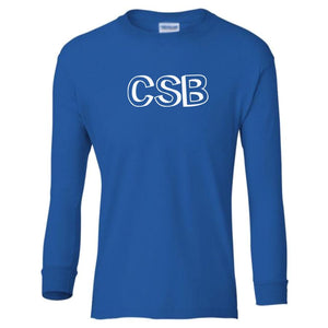 blue CSB youth long sleeve t shirt for boys
