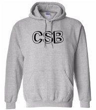 Load image into Gallery viewer, grey CSB hooded sweatshirt for women