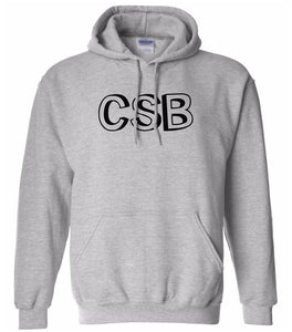 grey CSB hooded sweatshirt for women