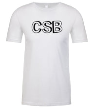 Load image into Gallery viewer, white csb mens crewneck t shirt
