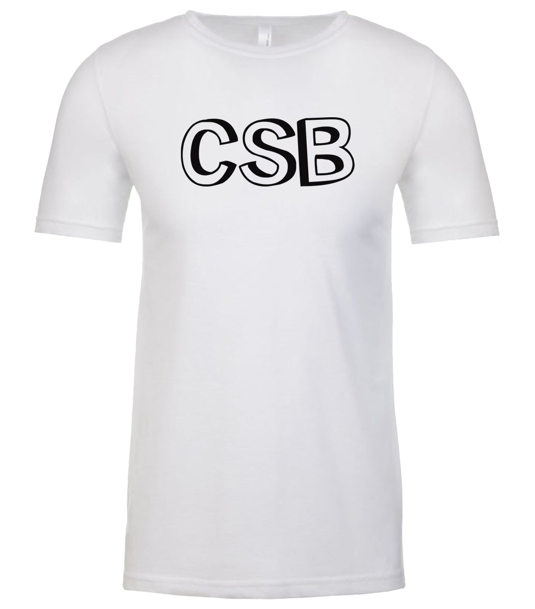 white csb mens crewneck t shirt