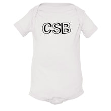 Load image into Gallery viewer, white CSB onesie for babies