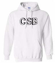 Load image into Gallery viewer, white CSB hooded sweatshirt for women