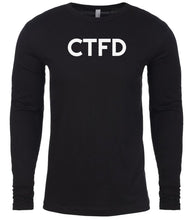 Load image into Gallery viewer, black ctfd mens long sleeve shirt