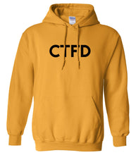 Load image into Gallery viewer, yellow ctfd mens pullover hoodie