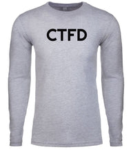 Load image into Gallery viewer, grey ctfd mens long sleeve shirt