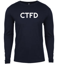 Load image into Gallery viewer, navy ctfd mens long sleeve shirt