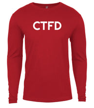 Load image into Gallery viewer, red ctfd mens long sleeve shirt