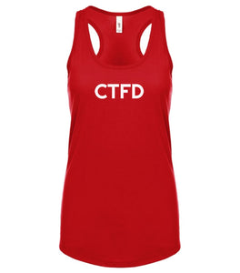 red CTFD racerback tank top for women