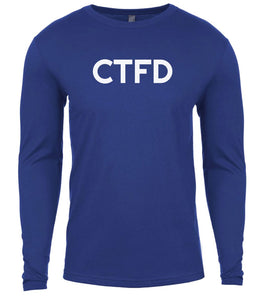 blue ctfd mens long sleeve shirt